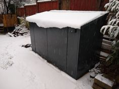Your bikes and garden tools & accessories are safe and dry through the endless weather changes thanks to Asgard. The Access all metal shed features an integral metal floor, essentially creating a 'secure box' to keep the snow out. #secureshed #bikeshed #securebikeshed Metal Shed, Bike Shed, Metal Floor, Bike Storage, Garden Tools, Weather, Snow, Outdoor Decor, Accessories