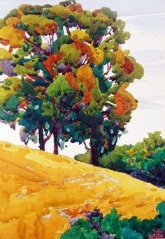 robin purcell , california watercolors in the plein air tradition: Valona Paint Out