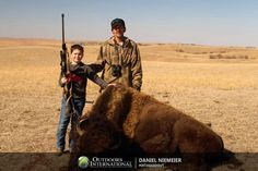 This is a great and simple bison hunting trip. Ideal for young hunters getting started. Bison Hunting, Big Game Hunting, South Dakota, Hunters, Camel, Simple, Animals, Animales, Animaux