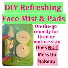 DIY Natural Refreshing Face Toner Mist & Pads: Homemade On-the-go Treatment for Tired, Dull or Mature Skin - Inspired by Eau Roma Water