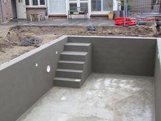 New building outdoor pool, Small Inground Pool, Swimming Pool House, Small Pools, Indoor Swimming Pools, Swimming Pool Designs, Dipping Pool, Porch Plans, Mini Pool, Garden Pool