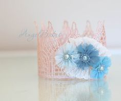 Embellished Lace Crown