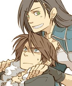 Hahaha! Father and son. Laguna annoyed Squall so much. :D