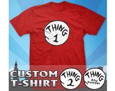 Dr Seuss  Thing 1 2 3 4 5 TShirts