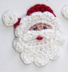 Baby Blanket Mini Knit Blanket Santa Crochet Applique on by EcoJr