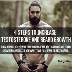 8 Steps to Increase Testosterone and Beard Growth - Beard Tips Beard Growth Tips, Beard Hair Growth, Beard Tips, Facial Hair Growth, Fitness Workouts, Fun Workouts, Increase Testosterone, Natural Testosterone, Testosterone Levels