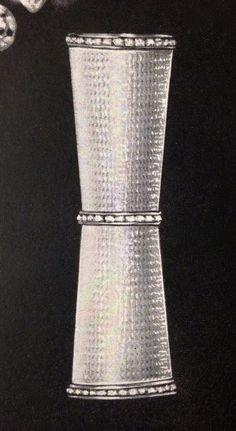 "Revlon ""Futurama"" ""Hand Engraved Ringed with Gems"" Lipstick Case, designed by Van Cleef & Arpels, 1957"