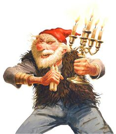 Kertasníkir, the 13th Icelandic Yule Lad, follows children around to steal their Christmas candles, which he then eats.