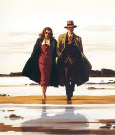 The Road to Nowhere - Jack Vettriano--Makes me think of BONNIE AND CLYDE.
