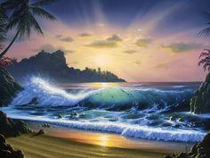 """Sunrise in Paradise"" by Al Hogue ~ Landscape painter   Tutt'Art@   Pittura * Scultura * Poesia * Musica  "
