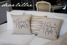 Pillows made with Sharpie Pen