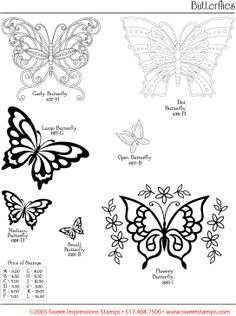 Papillons  dessin