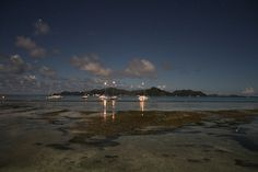 Seychelles beach at night 2 Share, Like, Repin! Also find us at http://instagram.com/mightytravels