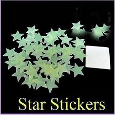 100pcs noctilucent stars Home Wall Glow In Dark Star Stickers Decal decor Baby Kids Gift wall stickers for kids rooms Nursery ** You can find out more details at the link of the image. (Note:Amazon affiliate link)