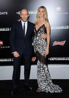 August 2014 - Stylish Celeb Couples: Rosie Huntington-Whiteley and Jason Statham - Photos