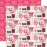 Valentines Day Kisses Scrapbook Paper