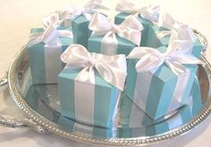 Tiffany Inspired Blue Favor Boxes