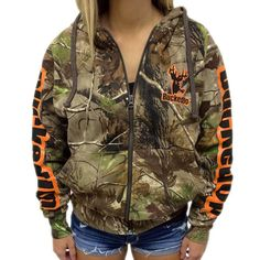 ZIPPER HOODIE REALTREE APG CAMO WITH ORANGE LOGO  FREE SHIPPING on all orders over $50 in the continental U.S.  Available at BuckedUpApparel.com  #BuckedUp #orange #redneckgirl #redneck #buck #countrylivin #country #hunting #deerhunting #fishing #deer #yeeyee #countrygirl #mud #mudding #hunt247 #hunt #realtree #realtreecamo #realtreelife #realtreegirl #lovecamo #shescountry #countrylove #lovecountry #huntress #camo #camouflage
