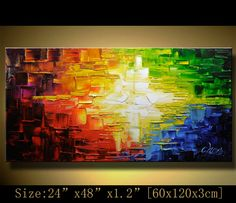 Original Art, Abstract Art,Thick Texture Contemporary Gallery Fine Impasto Art oil/acrylic Ready to Hang  by Chen c0106 on Etsy, $199.00
