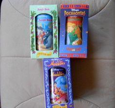 NIB Set of 3 Walt Disney Pocahontas Jungle Book Aladdin Collectors Series Cups #WaltDisney