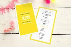 menu de mariage un grand oui ! par Marion Bizet pour www.rosemood.fr #mariage #menu #wedding