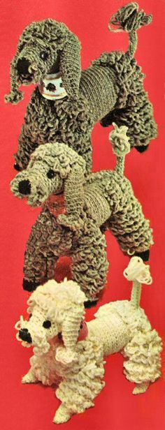-Poodle Family Dogs Crochet Pattern - KarensVariety.com