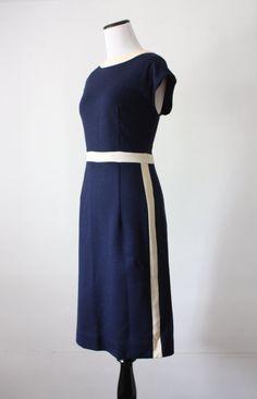vintage 1960s nautical day dress