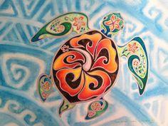 Nani Honu, Original Tropical Sea Turtle Art - Honu- Tortuga - Large Framed Watercolor  Painting -  by Christie Marie Elder by ChristieMarieART on Etsy https://www.etsy.com/listing/129308913/nani-honu-original-tropical-sea-turtle