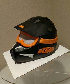 KTM off road helmet cake