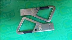 Triangular shape Usb flash disk metal carabiner key pen drives