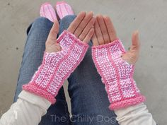 How to knit fingerless gloves with a Clover Standing Oval Knitting Loom