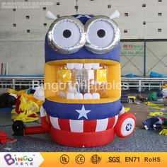 750.00$  Buy here - http://alidv5.worldwells.pw/go.php?t=32751929503 - Free Delivery Chinese new year decorations Inflatable Despicable me minions money machine booth for toy tents 750.00$