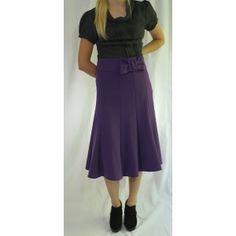 Bow Belt Swirl Skirt in Purple