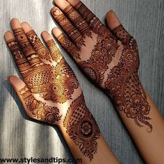 Mehndi henna designs are searchable by Pakistani women and girls. Women, girls and also kids apply henna on their hands, feet and also on neck to look more gorgeous and traditional. Palm Mehndi Design, Floral Henna Designs, Mehndi Designs Book, Indian Mehndi Designs, Mehndi Designs For Girls, Modern Mehndi Designs, Mehndi Designs For Fingers, Wedding Mehndi Designs, Mehndi Design Pictures