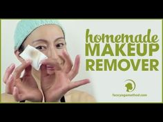 How to make makeup remover http://faceyogamethod.com/ - Face Yoga Method.  jojoba oil.  like how she uses pad and q-tip