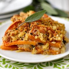 Skinny Sweet Potato Gratin tastes decadent yet is light, healthy, gluten-free and easily made dairy-free.