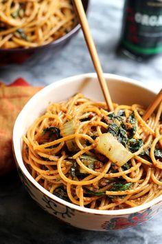 Fiery Vegetarian Dan Dan Noodles