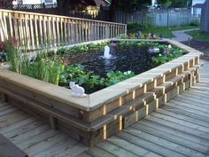 Above Ground Ponds - Here's a large above ground deck po...