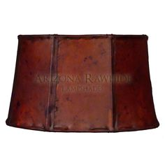 Barrel Table Lamp Rawhide Shade - Arizona Rawhide, leather lampshades for less!