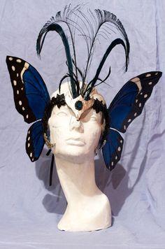 Blue Morpho Butterfly Mask. $145.00, via Etsy.