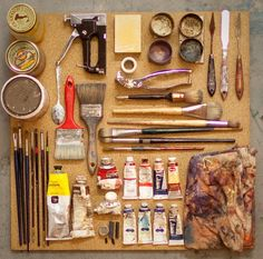 Things Organized Neatly: SUBMISSION: Working in the studio