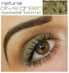 Makeup Ideas For Prom - Natural Olive Green Eyeshadow Tutorial - These Are The Best Makeup Ideas For Prom and Homecoming For Women With Blue Eyes, Brown Eyes, or Green Eyes. These Step By Step Makeup Ideas Include Natural and Glitter Eyeshadows and Go Great With Gold, Silver, Yellow, And Pink Dresses. Try These And Our Step By Step Tutorials With Red Lipsticks and Unique Contouring To Help Blondes and Brunettes Get That Vintage Look. - thegoddess.com/makeup-ideas-prom
