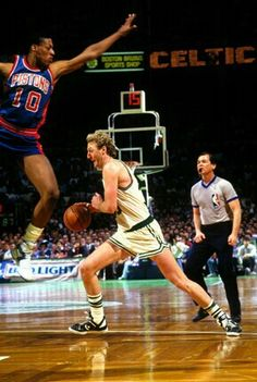 Dennis Rodman (Detroit Pistons) and Larry Bird