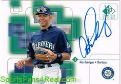 1999 upper deck sp signature edition alex rodriguez autograph card $80