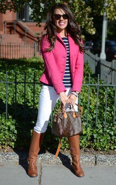 Hot pink navy blue :)