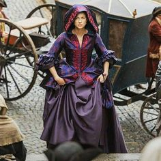 Claire's new traveling dress in Outlander