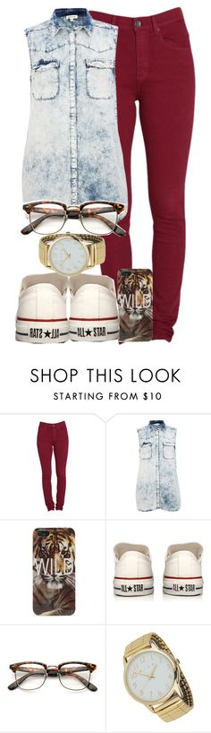"""Allstar x Wild."" by cheerstostyle ❤ liked on Polyvore featuring Dr. Denim, River Island, With Love From CA, Converse, Miss Selfridge, women's clothing, women, female, woman and misses"
