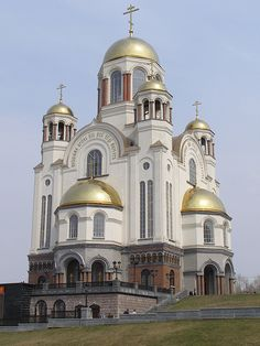 Cathedral on the Blood, Yekaterinburg, Russia...  stands on the site of the Ipatiev House, where the Romanovs – the last Royal Family of Russia – were murdered