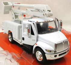$25 per truck includes custom name/logo and shipping! Custom bucket and digger or pole setter trucks for kids and big boys too! Customized with your logo or name and truck number at no additional charge. Utility trucks for linemen, electricians, cabledawgs, telephone lineman, tree trimmers, sign repair specialists and others who work with bucket trucks!