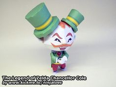 Finally finished my papercraft Legend of Zelda: Spirit Tracks Chancellor Cole! ;o)
